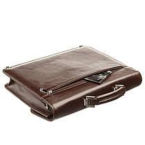 Портфель мужской KARYA 17272 кожаный Коричневый, фото 3