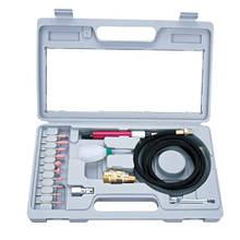 Зачистная машинка (гравер) пневматическая mini с комплектом шлифовальных камней  (1/8, цанг.зажим 3мм,