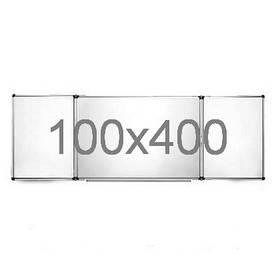 Дошка магнітно-маркерна 100х400 см з 5-ма робочими поверхнями в алюмінієвій рамі Ukrboards