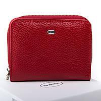 Женский кожаный кошелек 11.5*9*3 красный, фото 1