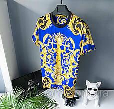 Мужская футболка в стиле Versace разноцветная Версаче Топ Качество