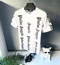 Мужская футболка в стиле Palm Angels белая палм енджелс Топ Качество
