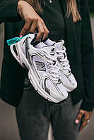 Мужские New Balance 530 White/Grey нью баланс 530 реплика