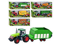 Трактор 10840, с прицепом, в коробке, 41-15-10 см