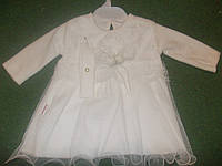 Платье для девочки крестильное белое