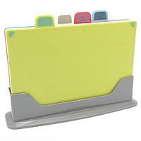 Доска разделочная с подставкой Board Set набор 4 шт пластик, фото 1
