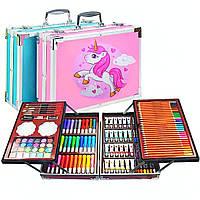 Набір для малювання Drawing Board 145 предметів у валізі для дітей, фото 1