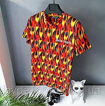 Мужская футболка в стиле Palm Angels с огнями палм енджелс Топ Качество