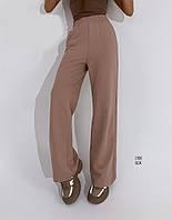 Молодёжные женские  спортивные штаны бежевый, 44-46