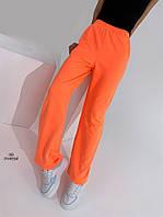 Молодёжные женские  спортивные штаны оранжевый, 44-46