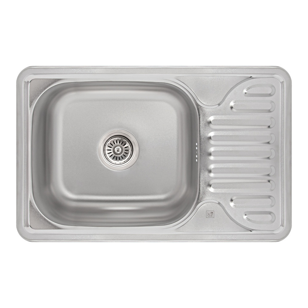 Кухонная мойка Lidz 6642 0,8 мм Satin (LIDZ664208SAT)