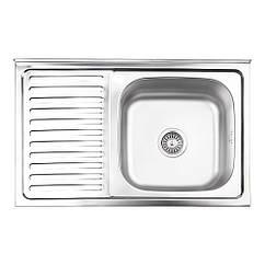 Кухонна мийка Lidz 5080-R Satin 0,8 мм (LIDZ5080RSAT8)