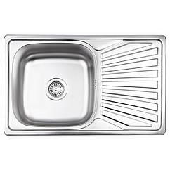 Кухонна мийка Lidz 7848 dekor 0,8 мм (LIDZ7848MDEC)