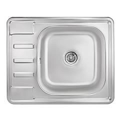 Кухонна мийка Lidz 6350 dekor 0,8 мм (LIDZ6350MDEC)