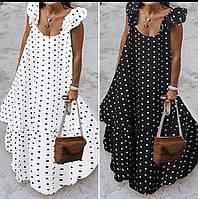 Женское свободное платье в  горох