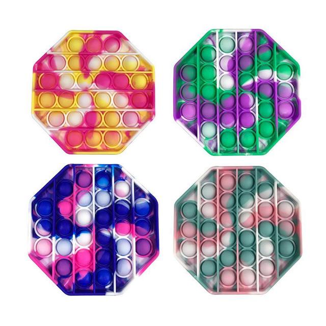 Антистрессовые игрушки Pop It вечная пупырка Поп Ит Фиджет для детей и взрослых из мягкого силикона