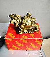 Статуэтка фэн - шуй дракон - черепаха, высота 5 см.