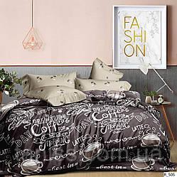 """Евро комплект постельного белья  """"ранфорс"""", расцветка как на фото,  кофе"""