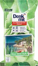Влажные салфетки для уборки   DENKMIT Feuchte Allzwecktücher Aloe Vera 50 шт