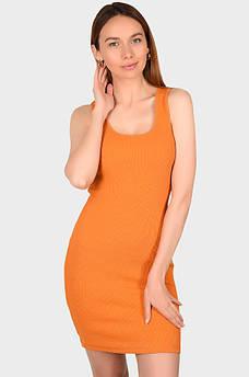 Платье женское оранжевое размер L MISS ONE 132501S
