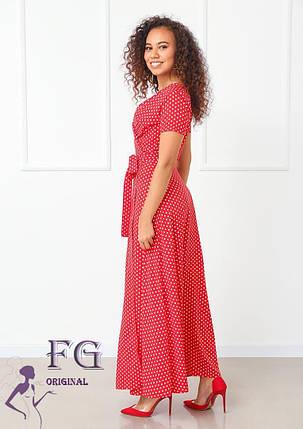 Модне жіноче літнє плаття в підлогу на запах, фото 2