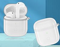 Силиконовый прозрачный чехол Casp на кейс Realme Buds Air / Realme Buds Air Neo /