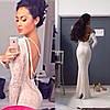 Гипюровое платье с открытой спиной и украшением (разные цвета)