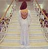 Гипюровое платье с открытой спиной и украшением (разные цвета), фото 3