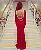 Гипюровое платье с открытой спиной и украшением (разные цвета), фото 5