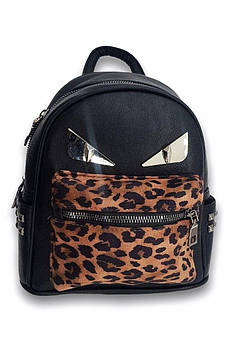 Рюкзак 9823 леопард коричневый 19 х 21 х 9 см 115125S