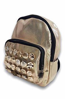 Рюкзак Y-15 золотистый 23 х 19 х 7 см 115122S