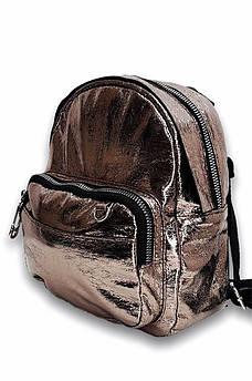 Рюкзак женский 8909 бронзовый 21 х 19 х 8 см 115132S