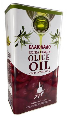 Оливкова олія для смаження грецьке рафінована Elaiolado Extra Virgin, 5л в жерстяній банці Італія