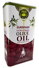Масло оливковое греческое Elaiolado Extra Virgin, 5л в жестяной банке, рафинированное, для жарки