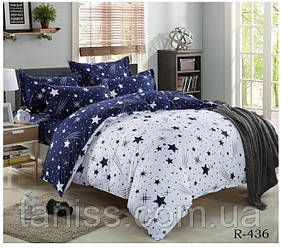 """Евро комплект постельного белья  """"ранфорс"""", расцветка как на фото,звезды"""