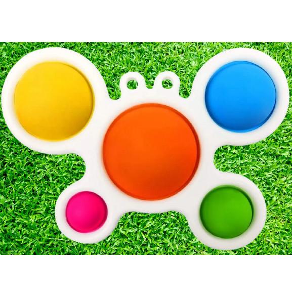 Сенсорная игрушка Pop It Simple Dimple 5 пупырок Краб