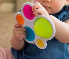 Сенсорна іграшка Pop It Simple Dimple 5 пупырок Краб, фото 2