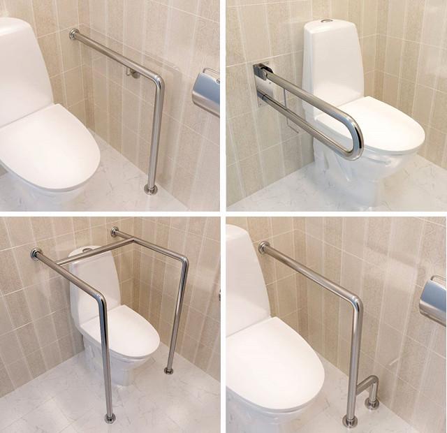 Откидной поручень для инвалидов в туалет