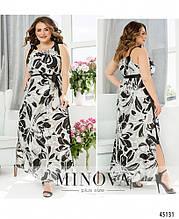 Сукня №2271-сірий-чорний сірий-чорний/46-48