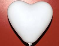"""Сердце 6""""(15 см) белое пастель. Воздушные шарики латексные в форме сердца оптом"""