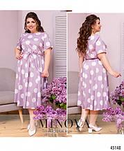 Сукня №1020-бузковий бузковий/50-52