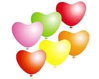 """Воздушные шарики сердца неон ассорти 10"""" 25 см."""