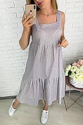 Сукня жіноча літнє в горошок лляне