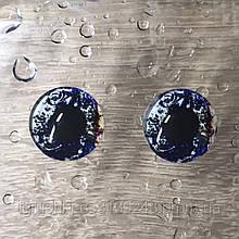 Скляні очі кабашоны для іграшок 12 мм (пара)