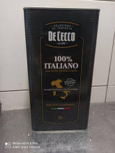 Масло оливковое De Cecco 100% Italiano, 5л (Италия) в жестяной банке (канистра), рафинированное, для жарки