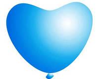 Голубые воздушные шары сердца кристалл 28 см