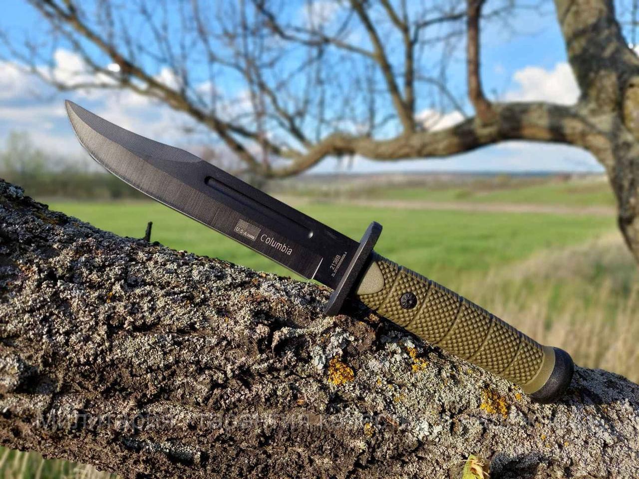 Ножи для охоты, рыбалки и туризма Columbia охотничий тактический военный армейский большой нож 2138B