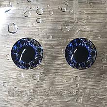 Стеклянные глаза кабашоны для игрушек 14 мм (пара)