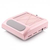 Витяжка для манікюру Simei 858-8 з НЕРА-фільтром 80W (рожева)