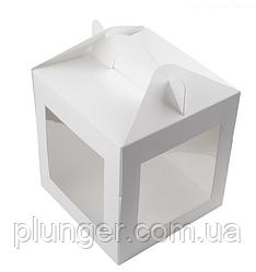 Коробка картонная для торта 21 см х 21 см х высота 21см